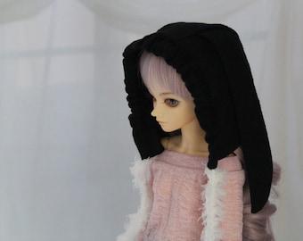 Minifee Bunny Hood, Bonnet for MSD BJD, MNF, 1/4 doll Hat