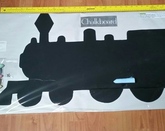 Train Shaped Chalkboard