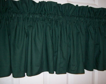 "Hunter Green Window Treatment Valance 102"" Wide x 15"" Long"