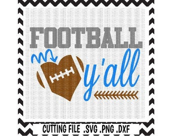 Football Svg, Football Y'all Cutting File, Svg-Dxf-Png-Pdf Files, Silhouette Cameo, Cricut.