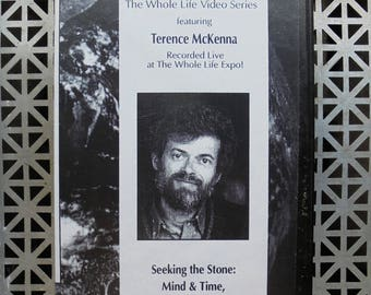 """Terence McKenna Vintage VHS  """"Mind and Time,Spirit and Matter"""" 1992"""