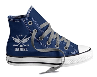 Hockey Shoes Personalized Converse Youth Shoes Personalized with name