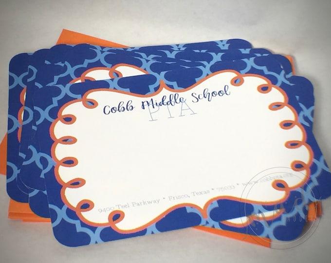 """School Spirit 5""""x7"""" Note Card Set"""