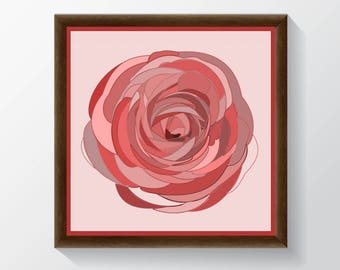 Pink Rose Square Poster