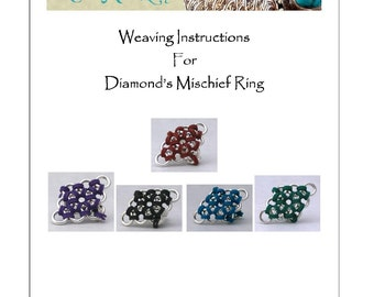 PDF Instructions For Diamond's Michief Chainmaille Ring