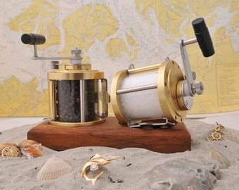 USA Fishing Reel Salt & Pepper Grinders/Mills (No, not the Chinese knock-offs).
