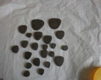 Japanese charcoal grey pebbles
