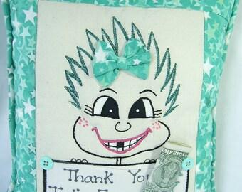 Zahnfee Kissen für Mädchen PinHead glücklich Face(TM)
