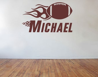 Football Wall Decal with Personalized Name