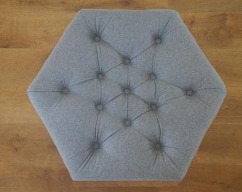 Light Grey Hexagonal Footstool