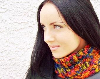Knit Cowl Pattern, Knitting Pattern, Chunky Knit Scarf, Cowl Scarf Pattern, Cowl Knitting Pattern, Knit Cowl Scarf, Infinity Scarf Pattern