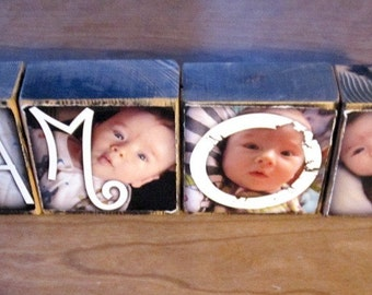 Photo Letter Blocks instead of a card- AMOR- set of 4