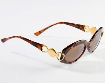Annabella 80s vintage sunglasses, made in Italy. Cat eye sunglasses for women - 100% original vintage eyewear, tortoise sunglasses italian