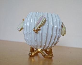 Vintage Japanese ceramic vase or candy bowl