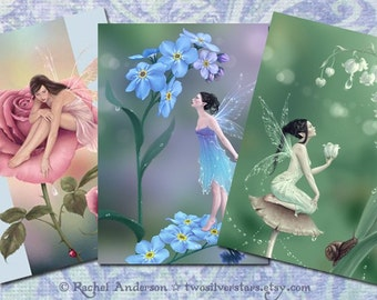 Fairy Art Greeting Cards - Flower Fairies Set of 3
