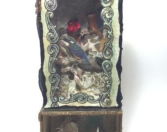 Joseph Cornell Inspired Cigar Box