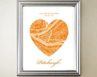 Pittsburgh Heart Map