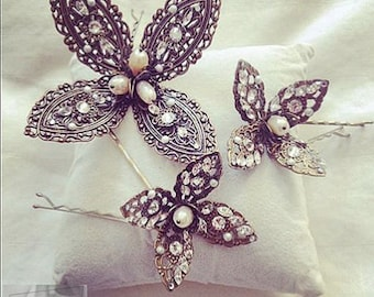 House Of Tiaras Flora Hair Pins