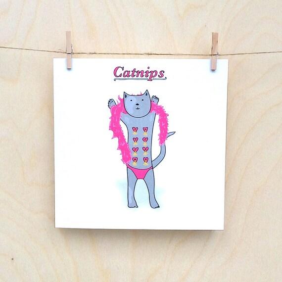 Cat Nips Card, Funny card, funny greetings card, funny cat card, Catnips