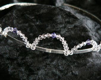 Clear Crystal and Purple Crown Shaped Children's Hairband