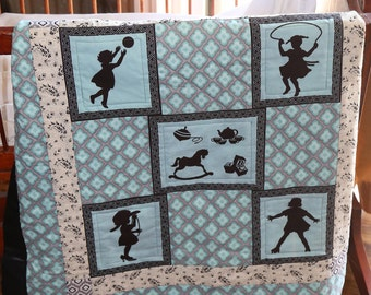 Free Shipping, Girl Quilt, Baby Girl Quilt