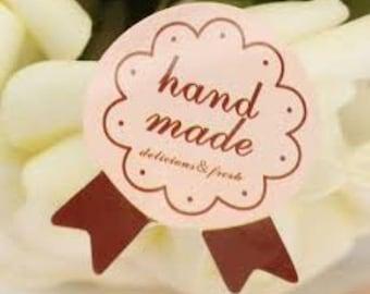 """Stickers """"Hand Made"""" Medal 2.7 cm * 3.5 cm"""
