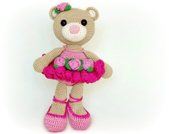 PATTERN - Bibi the Ballerina Bear (crochet, amigurumi) - in English