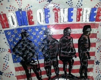 Hand painted and designed platters Americana Series Wall decor ONLY