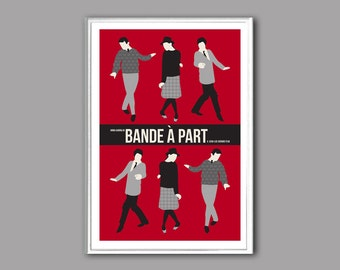 Movie poster Bande à part or Band of Ousiders retro print in various sizes