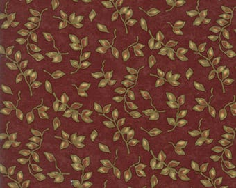 Moda COUNTRY ROAD Quilt Fabric 1/2 Yard By Holly Taylor - Barn Red 6664 17
