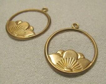Raw Brass Earring Drops 3722ffb