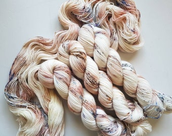 LULU- Hand Dyed Speckled Yarn, Superwash Merino Nylon 2 Ply twist