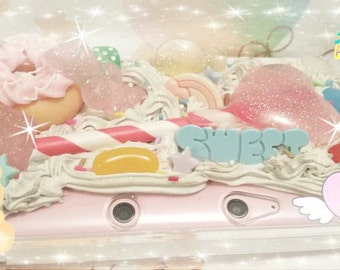 Kawaii Fairy Kei 3DS 3DS XL or New 3Ds xL Custom Deco Case Made To Order Pastel
