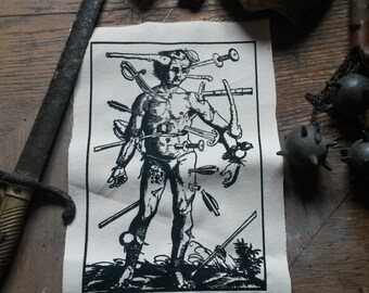 The Wundenmann of 1517, screen printing backpatch, limited.