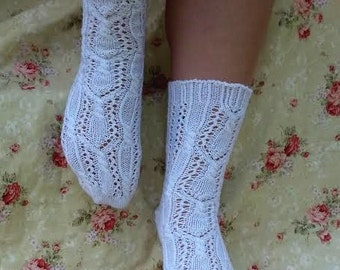 PDF Pattern - Japanese Lace and Cables Socks