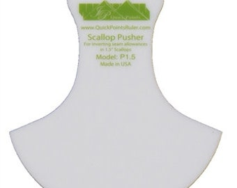 SCALLOP PUSHER | Quick Points 1.5 Inch Scallop Teflon Pusher P15 | Free Shipping