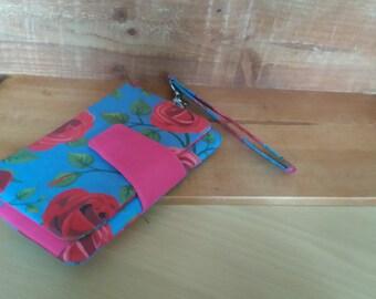 wristlet purse roses