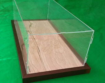 22 x 9 3/4 x 7 inch Pocher 1/8 Acrylic Display Case Showcase Wooden Base for 1:8 Model