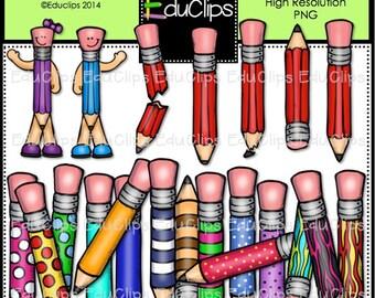 Perky Pencils Clip Art Bundle