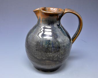 Small Pottery Pitcher Ceramic Pitcher Stoneware Pitcher Vase A