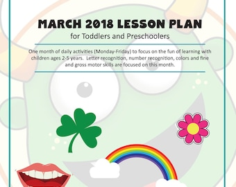 Digital Toddler and Preschool Lesson Plans | March 2018 Dentist, The Color Green, Rainbows, Garden