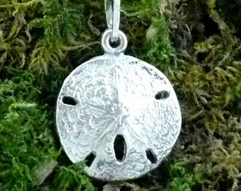 Sand Dollar Pendant Sterling Silver, Small