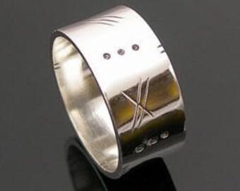 Mens Ring, Mens Wedding Band, Silver Ring