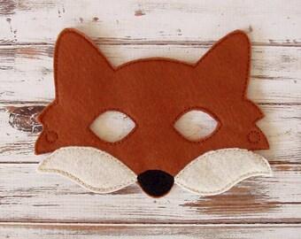 Fox Mask - Felt - Kids Mask - Costume - Dress Up - Halloween - Pretend Play