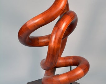Continuous Segmented Wood Sculpture