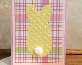 Easter Card-Easter Greeting Card-Easter Handmade Card-Easter Greetings-Bunny Card-Bunny-Happy Easter-Blank Greeting Card