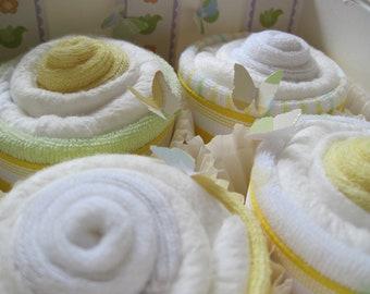 Unisex Diaper Washcloth and Socks 10 Piece Cupcake Set