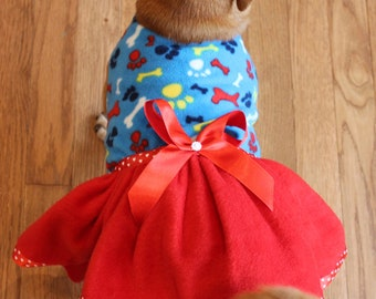Fleece Dog Dress