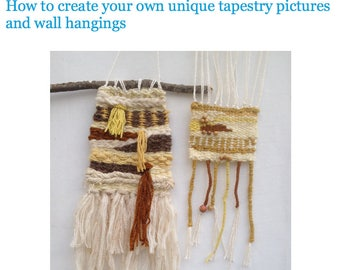 PDF e-booklet: Freestyle tapestry weaving.  Instant download