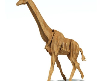 The African Giraffe 3D wooden puzzle/model
